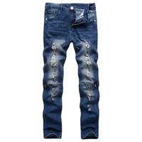 cristal balançado venda por atacado-Frete Grátis Mens Robin Rock Revival Jeans Cristal Studs Denim Calças Calças Designer dos homens tamanho 28-38 Novo