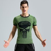 b401180f Wholesale superhero compression shirts for sale - Group buy 2018 New  Fitness Compression Shirt Men Punisher