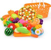 casas de plastico para niños al por mayor-Los niños juegan verduras juguete de la casa fruta del corte de plástico de cocina de juguete para bebés clásicos para niños juguetes finge los juguetes educativos