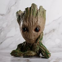Wholesale plant s light - New Fashion Guardians of The Galaxy Flowerpot Baby Groot Action Figures Cute Model Toy Pen Pot Best Christmas Gifts For Kids