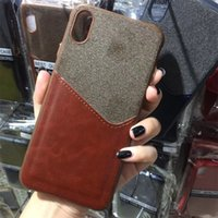 Wholesale 6s mobile phone cases for sale - Card Slot Mobile Phone Case For Iphone X XR XS MAX PC Hard Back For Iphone Plus