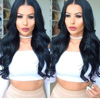 Wholesale human hair super long wig - Full Lace wigs Natural Color Super Wave Human Hair Wig Lace Front Wig Loose Wave Brazilian Hair Full Lace Wigs For Black Women