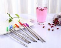 Wholesale Stainless Steel Straws Tips Food Grade Anti sliding Silicone Cold Straws Covers Colorful Rubber Tips for MM Drinking Straws