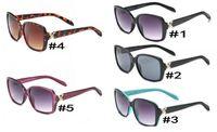 Wholesale sunglasses for hot sun resale online - Hot Fashion Summer Fashion designer sunglasses for men women UV400 metal eye wear sunglasses beach traveling driving sun glasses free ship