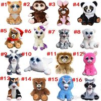 Wholesale pets stuffed animals - 16types Feisty Pets One second Change face Animals CM Inch Plush toys cartoon TY monkey bear unicorn Stuffed Animals baby Christmas gift