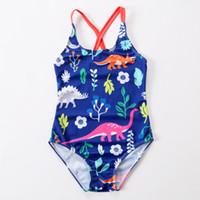 ingrosso bendaggio bambino-2018 New Swimsuit Girls One Piece Swimwear Animal Bandage Body Floral Bambini Beachwear Sports Swim Suit costume da bagno