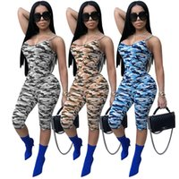 Wholesale Sling Pants - 3 Colors 2018 Hammock Jumpsuits European and American Women's Strip Dresses with Camouflage Sling