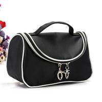 Wholesale ladies travel cosmetic bag case for sale - Group buy 2018 Fashion Women MC Makeup Cosmetic Bags Retro Beauty Wash Case Ladies Travel Makeup Bags Zipper Handbags