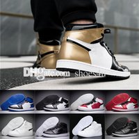 Wholesale I Clear - 2018 Basketball Shoes Sneakers 1 Men Women Yellow 1S I Replicas Brand Man Women Tennis Chaussure Femme Homme Sport Shoes