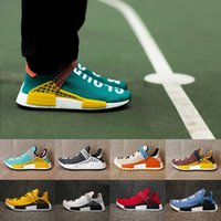 Wholesale Ch Sports - NMD Human Race Pharrell X CH Williams Hu trail NERD Men Women Running Shoes NMD noble ink core Black Red sports Shoes 36-45