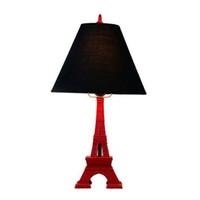 ingrosso torre eiffel illuminata-Torre Eiffel OOVOV Vintage Camera di studio lampada da tavolo creativo camera da lampade camera dei bambini Luci Desk Lamp
