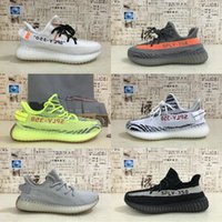 Wholesale zebra print brown - New Arrivals Boost 350 V2 CP9654 Beluga 2.0 Yellow Butter Semi Frozen Yellow zebra print Kanye West Mens Running Shoes Sport Sneakers