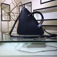 Wholesale famous triangles - Famous luxury BALENCIA brand Duffle designer handbags triangle designer bags genuine leather women fashion totes shoulder cross body handbag