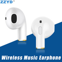 Wholesale wireless headphones mic for phone online - ZZYD Mini i8X V4 Bluetooth Headphone Single Sport Earphone With Mic Music Headset For Samsung S8 Note Any Phone