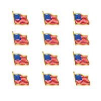 американские свадебные головные уборы оптовых-Штыри отворотом флага сша малая эмаль США американцы размахивая флагом значок для мужчин галстук шапка рюкзак булавки для куртки оптом 100 шт. / Лот