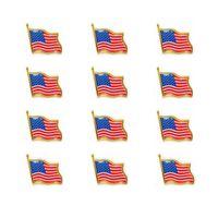 veste des états-unis achat en gros de-Le drapeau des États-Unis épinglettes petit émail américains américains agitant l'insigne du drapeau pour hommes cravate chapeau pins à dos pour veste en gros 100pcs / lot