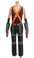 kahraman üniforma toptan satış-Benim Kahraman Akademi Katsuki Bakugou Kahraman Savaş Üniforma Cosplay Kostüm