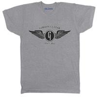 vintage band t-shirts großhandel-Gibson Gitarren-Weinlese-Musik-Band Goth Rocker-Konzert-Radfahrer-Retro- Grau 2 T-Shirt