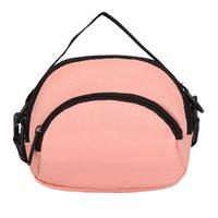 saco de compras do corpo transversal do nylon venda por atacado-Mulheres de Nylon Pure Color Zipper Compras Cross body Bag Phone pack Bolsa de Ombro meninas bolsa de viagem