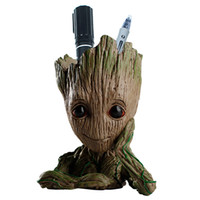 Wholesale craft figures - Guardians of the Galaxy Avengers Groot Flowerpot Action Figures Home Decoration Toy PVC Hero Creative Craft Figurine DDA358