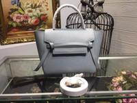 genuine leather handbags green al por mayor-23 cm Famosa marca Celinee Color verde claro Bolso de las mujeres de cuero genuino real de señora Mango largo Xilaideng6-4