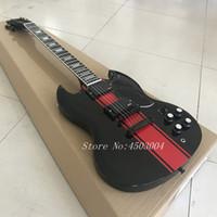 yüksek kaliteli sg gitar toptan satış-Çin'den Yüksek Kaliteli Siyah SG Elektrik Gitar Siyah Donanım Toptan SıCAK