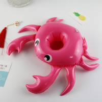 Wholesale design lovely cartoon for sale - Group buy Cartoon Crab Design Inflation Cup Seat Pool Floating Cute Drinks Holder Lovely Mini Saucer For Swimming Pool Decoration New Arrival xr Z