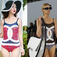 tek parça mayo örgü toptan satış-2 Renkler One Piece Mayo Kadınlar Seksi Mesh Mayo Hollow Out Bodysuit Mayo Monokini Plaj Yüzme Suit EEA326