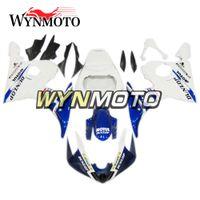 moto yamaha yzf r6 al por mayor-Kits de carrocería ABS Plastics Motocicleta 2005 R6 Carenado completo para Yamaha YZF600 R6 YZF-600 2005 Injection Hulls Azul Blanco Carrocerías de carrocería