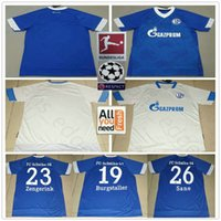 Wholesale schalke jersey online - 2018 FC Schalke Soccer Jersey BURGSTALLER  UTH Mascarell HARIT SERDAR SANE 7176ca29a