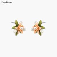 pendientes de moda al por mayor-venta al por mayor hipoalergénico Trending Earrings Classic Renaissance Sea Pearls esmaltado flor Stud Pendientes en plata esterlina