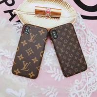 pu case al por mayor-Luxury Fashion Show Funda de cuero para iPhone X 8 8Plus 7 6 6S Plus Funda de cuero de la marca Back Cover para Galaxy S9 S8Plus S7Edge Fundas Note8