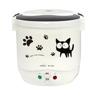 Wholesale portable cookers for sale - Group buy 1L Portable Electric Mini Rice Cooker Lunch Box Microwave Smart Small Rice Cooker V V For Car Truck Cooker