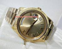 Wholesale roman factory - Best Quality NOOB Factory President 40mm Day-Date 228238 18K Yellow Gold Roman Gold Dial Swiss CAL.3255 Movemen Automatic Mens Watches