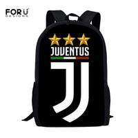 okul için büyük sırt çantaları toptan satış-FORUDESIGNS Moda Juventus 3D Baskılı Boys Okul Çantaları Rahat Ilköğretim Okulu Öğrencileri Okul Çantaları Büyük Sırt Çantaları Büyük Sırt Çantaları Y18100705
