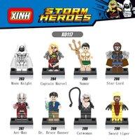 Wholesale Wonder Woman Figure - 120pcs Mix Lot Super Heroes Minifig Wonder Woman Spac Wars Moon Knight Captain Marvel Catwoman Bat Figure X0117 Mini Building Blocks Figures