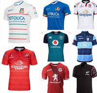 495e9505a47 Wholesale jersey soccer league online - 2018 Ireland IRFU Munster Rugby  Jerseys Italy Rugby Shirt size