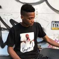Wholesale Photo Print Sleeves - Lover Hip Hop PHOTO Print Tee Skateboard Black White T-shirt Men Women Cotton Casual T-Shirt Free Shipping
