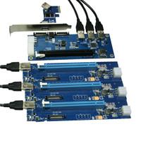 ranura pcie pci al por mayor-NUEVA DAA en la tarjeta PCIe 1 a 4 ranuras PCI Express 16X tarjeta vertical PCI-E 1x a Externa ranura PCIe 4 adaptador PCIe multiplicador de puertos