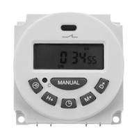 relés temporizadores al por mayor-DC 12V LCD digital Temporizador programable Tiempo de relevo del temporizador electrónico programable electrónico semanal