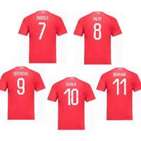 швейцария оптовых-2018 швейцарский Швейцария EMBOLO 7 XHAKA 10 INLER 8 главная Таиланд качество футбол Джерси футбол рубашка комплект camiseta футбол Майо де фут
