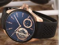 lüks saatler sarkaç toptan satış-Son sürümü Lüks erkek Şeffaf Arka Kalibre Izle Sarkaç Etiketi Büyük Otomatik Spor erkek Saatler