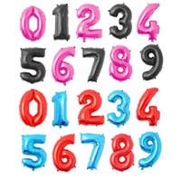 ingrosso palloncini da 32 pollici-Palloncino a elio 32 pollici numero di lettera d'oro Palloncini con foglio di alluminio Elio Ballons Decorazione di compleanno Matrimonio Palloncino aerostati per feste JYZG