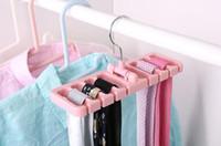 Wholesale rotating clothes rack online - 50pcs Storage Rack Tie Belt Organizer Space Saver Rotating Scarf Ties Hanger Holder Hook Closet Organization Tank Tops Bra Belts Bag
