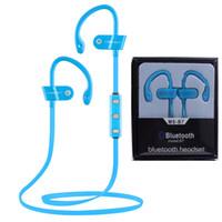 ms telefonlar toptan satış-Yeni ms-b7 bluetooth kulaklık kulaklık stereo spor koşu kablosuz kulaklık telefon için mikrofon ile iphone 7 7 plus paketi