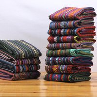 Wholesale linen cotton sofa fabric for sale - Group buy B Ethnic style cloth cotton and linen vintage linen bohemian fabric sofa fabric