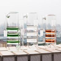 waben-glasperlen-aschefänger groihandel-Glas aschfänger Recycler drei Waben perc ashcatcher 14mm 18mm Männlich Weiblich percolator Bowl Adapter Zubehör für Glas Bong Rauchen