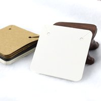 Wholesale diy jewelry cards online - 50PCS x5cm Blank Kraft Paper Jewelry Display Necklace Cards Hang Favor Label Tag For Jewelry Making Diy Accessories