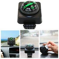 мини-компас оптовых-Открытый портативный мини-автомобиль компас руководство мяч регулируемый угол компас