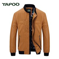 Wholesale Mens Bomber Jacket Fur - Wholesale- TAPOO 2017 New winter Bomber Jackets Men Army Outerwear tactical jackets mens cotton thick fur collar warm coats 822